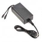 24-key IR Remote Control + Power Adapter for RGB Lamp - Black (100~240V)