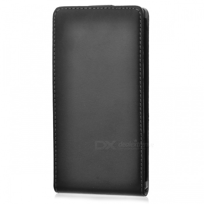 Protective Top Flip Open Split Sheepskin Case for Sony Xperia Z1/ i1/ C6902/ C6903 - Black