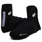 NUCKILY EDD02 Outdoor Sports Cycling Shoe Cover - Black (Pair / Size L)