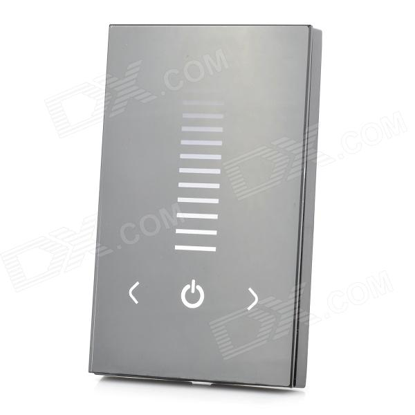 96W Light / Power Control 1-CH LED Touch Panel Controller for Single Color Lamp Bar - Black