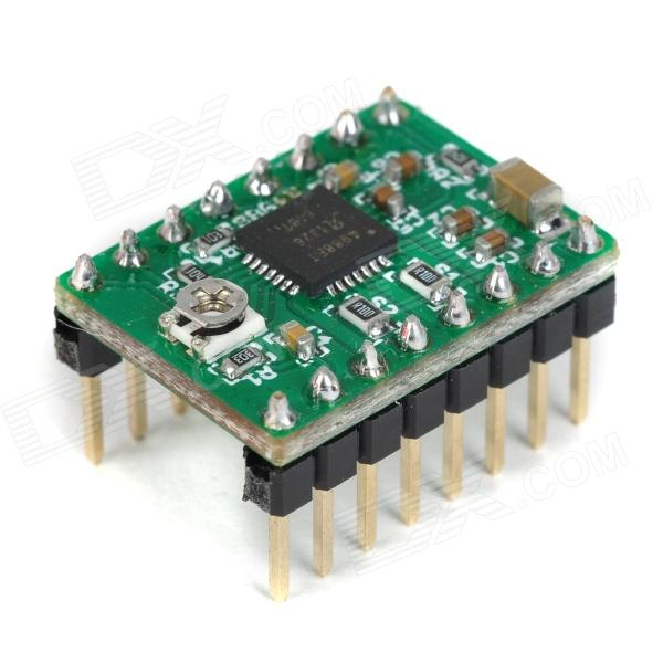 3D Printer A4988 Arduino Reprap Stepper Motor Driver3D Printer Parts<br>ModelN/AQuantity1 DX.PCM.Model.AttributeModel.UnitForm  ColorBlackMaterialPCBEnglish Manual / SpecYesPacking List1 x  Driver<br>