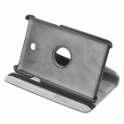 Rotatable Protective Flip Open PU Leather Case w/ Stand for Asus FonePad HD 7 ME372CG - Black