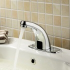 YDL-F-0511-Contemporary-Automatic-Sensor-Bathroom-Sink-Faucet-with-Escutcheon-Plate-Silver