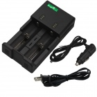 SingFire-US-UC2-Dual-Slot-Intelligent-Universal-Battery-Charger-w-USB-Car-Charger-Black-(US-Plugs)