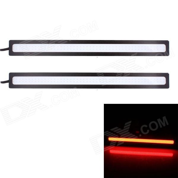 Buy 6W 450lm COB LED Red Light Car Daytime Running Lamps - (12V / 2 PCS) with Litecoins with Free Shipping on Gipsybee.com