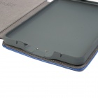 Custodia in pelle PU protettiva elegante w / LED lettura luce per Amazon Kindle Touch - profondo blu