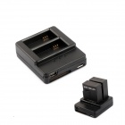 Dual Smart Charger + 1050mAh Battery Set for Gopro Hero 3+/3 - Black