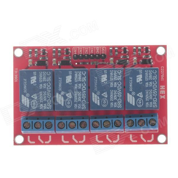 CG05SZ-009 4-Channel 5V Power Relay Module for Arduino - Red + Blue