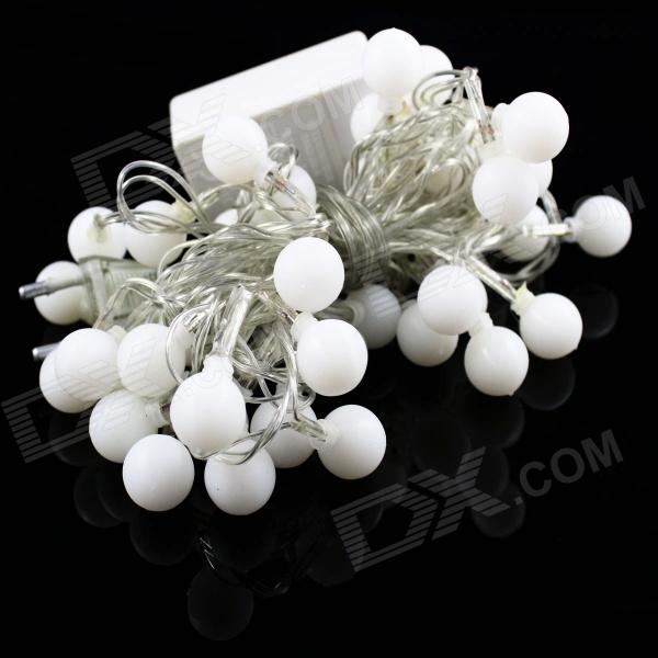 Buy 5W 50-LED White Small Ball Style Christmas Decorative String Light - (5m / 220V / 2-Round-Pin Plug) with Litecoins with Free Shipping on Gipsybee.com
