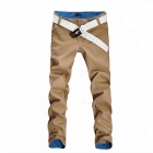 Men's Cotton Casual Pants - Khaki (XL)