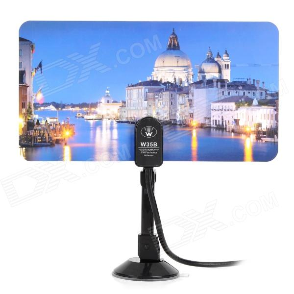Buy DVB-TW35B Classical Architecture Pattern DVB-T 35dB IEC Digital TV Antenna - Black with Litecoins with Free Shipping on Gipsybee.com