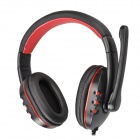 SOUND FRIEND SF-SH010U Stylish USB 2.0 Headphones w/ Microphone - Black + Red (194cm-Cable)