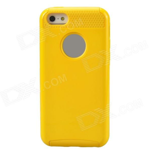 Fashionable Protective PC + TPU Back Case for Iphone 5 / 5s / 5c - YellowTPU Cases<br>Form ColorYellowQuantity1 DX.PCM.Model.AttributeModel.UnitMaterialPC + TPUCompatible ModelsIPHONE 5S,IPHONE 5C,IPHONE 5DesignMixed ColorStyleBack CasesPacking List1 x Protection case<br>