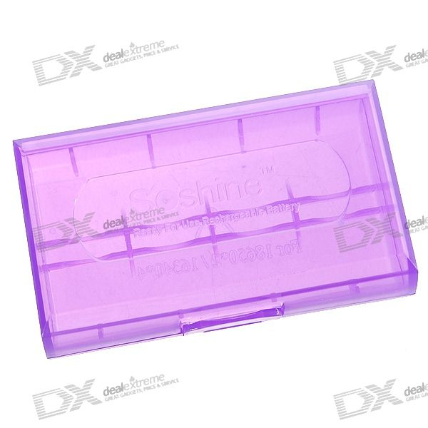 Soshine 2*18650/4*CR123A Battery Protective Case (Purple)