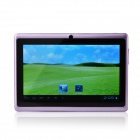 UBOX A7 7.0″ Android 4.0 Tablet PC w/ 512MB RAM, 4GB ROM, Wi-Fi, TF – Purple + Black