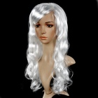 Universal Festival Party Fashion Long Curly Hair Wig - White