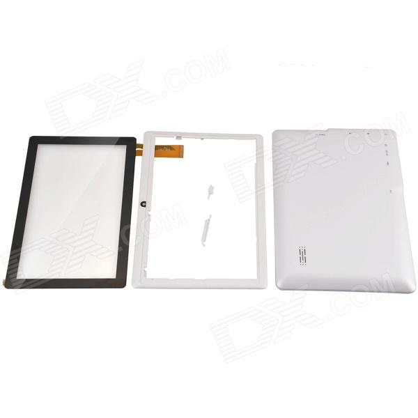 Replacement Front Shell +Back Cover + 2-Button + Screen Set for AllwinnerA13 Q8/A7 /M700/ Witcool X5