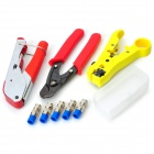 WLXY WL-35 Coaxial Cable Crimping Plier / Cutter / Stripper Tool Set