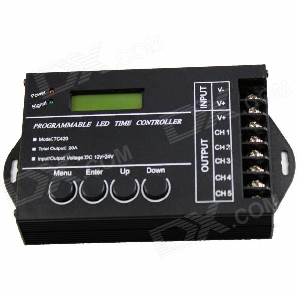"TC420 1.4"" LED Programmable Time Controller - черный (12 ~ 24 В)"