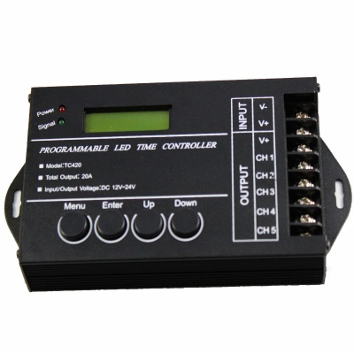 "TC420 1.4"" LED Programmable Time Controller - Black (12~24V)"