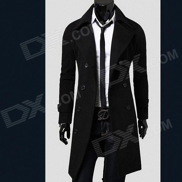 Fashionable Double-Breasted Trench Men's Coat