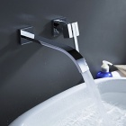 YDL-F-0514-Contemporary-Brass-Waterfall-Wall-Mount-Bathroom-Sink-Faucet-Silver