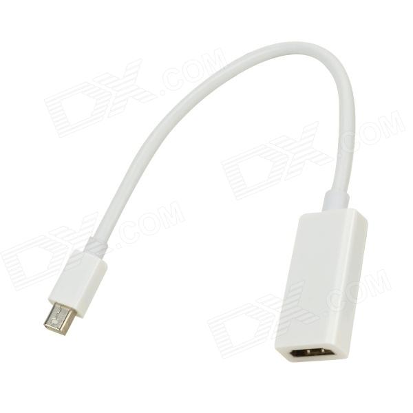 Mini DP macho a HDMI hembra adaptador de cable para macbook - blanco (25 cm)