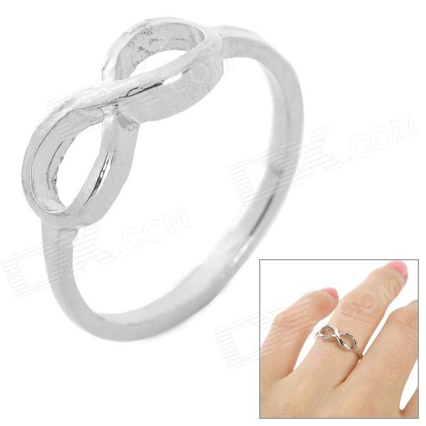 Buy LX-J21 Fashion Bowknot Style Zinc Alloy Finger Ring for Women - Platinum with Litecoins with Free Shipping on Gipsybee.com