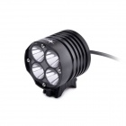 "SolarStorm XT40 4-LED ""3300lm"" 4-Mode White Bike Light - Black (4 x 18650)"