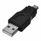 USB Male to Mini USB Male Connector Adapter - Black