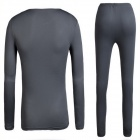 TECTOP Men's Outdoor Polyester + Spandex Underwear Suits - Gray (Size L)