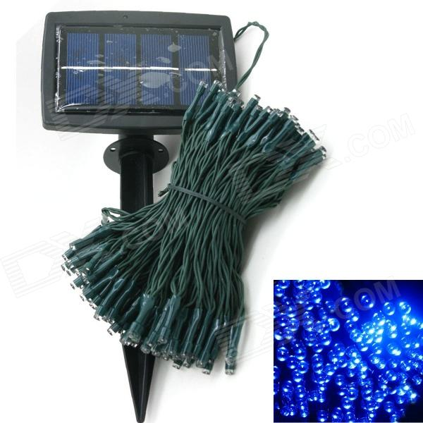 Solar Powered 0.64W 10lm 200-LED Blue Light Garden Christmas Party String Fairy Light (20.5m)LED String<br>Form ColorBlack + Army GreenColor BINBlueBrandLIWEEKModel200-LED-BlueMaterialCopper wire + LED lightsQuantity1 DX.PCM.Model.AttributeModel.UnitPowerOthers,0.64WRated VoltageOthers,3 DX.PCM.Model.AttributeModel.UnitEmitter TypeLEDTotal Emitters200Wavelength650nm, 520nm, 460nmTheoretical Lumens10 DX.PCM.Model.AttributeModel.UnitActual Lumens10 DX.PCM.Model.AttributeModel.UnitPower AdapterSolar PoweredPower0.64 DX.PCM.Model.AttributeModel.UnitPacking List1 x Solar Power String Light (Blue)1 x Solar Panel1 x English user manual<br>