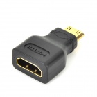 2-i-1 1080 P Mini HDMI / HDMI till VGA + 3.5mm AV Adapter med kablar - vit