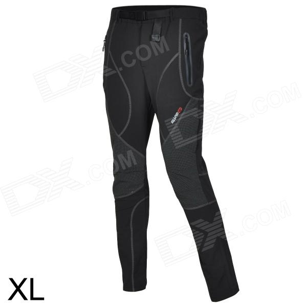 Outto-Outdoor-Sports-Waterproof-Polyester-Ninth-Pants-for-Men-Grey-2b-Black-(XL)