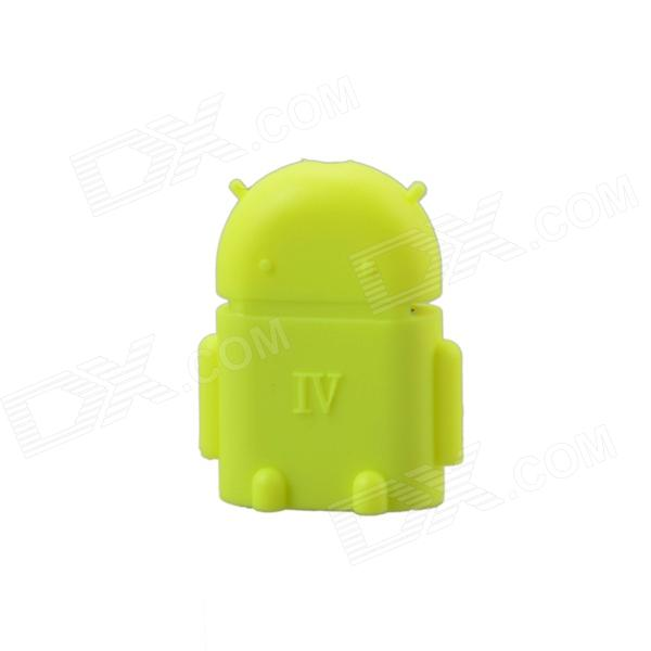 Cute Mini Android Style Micro USB OTG USB Drive Reader for Samsung / Sony - Fluorescent Yellow