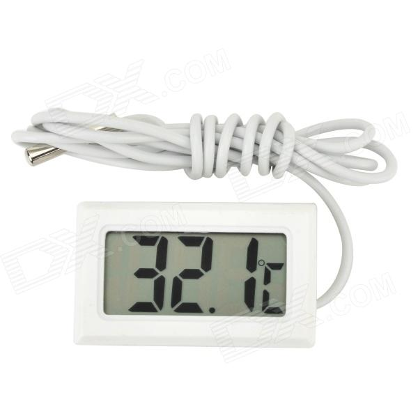 "Mini 1.6"" LCD Digital Thermometer for Refrigerator / Aquarium - White"