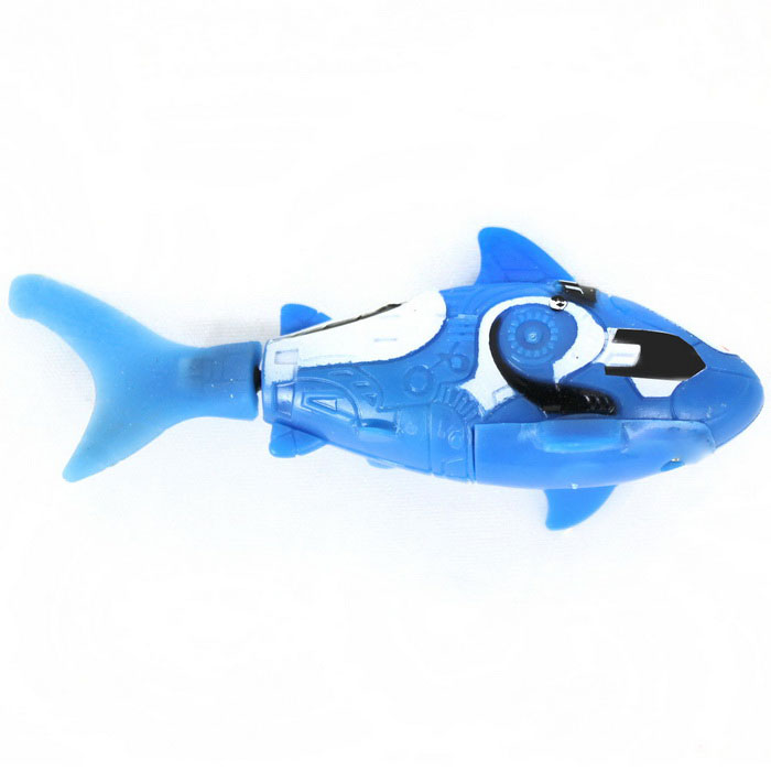 ROBO FISH Shark Style Electronic Fish Toy - Blue + White (2*LR44)