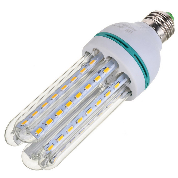 E27-4u E27 18W 1400lm 3000K 64-3528 SMD LED Warm White Bulb (85-265V)