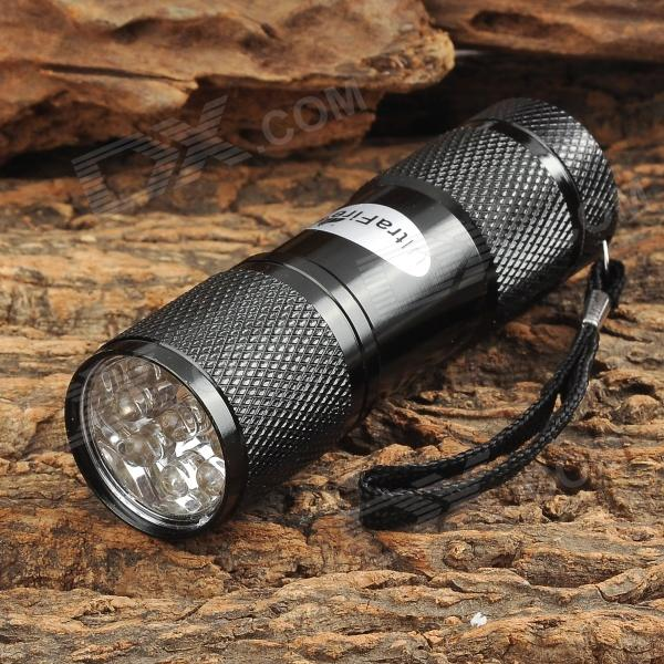 Buy UltraFire 709 9-LED 1W 405nm Purple Flashlight - Black (3 x AAA) with Litecoins with Free Shipping on Gipsybee.com