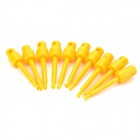 LSON LS-TF Electrical Probe Testing Lead Wire Hooks - Yellow (10 PCS)
