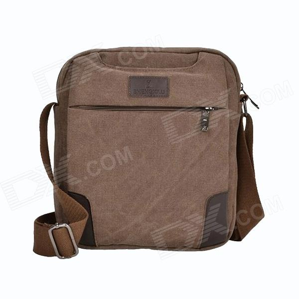 Shengxilu 801 Sports Men's Casual Fashion Canvas Shoulder Bag - Khaki