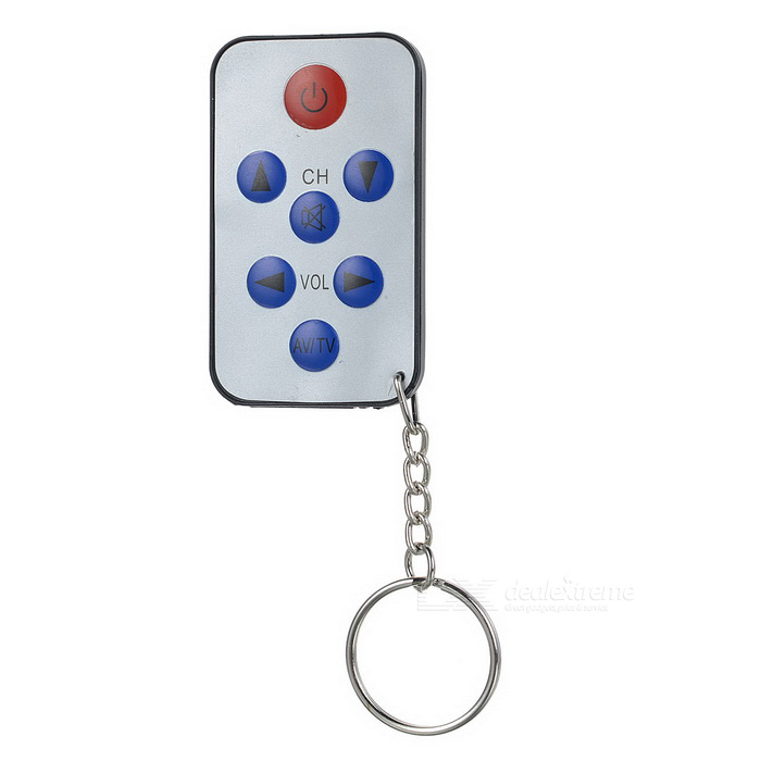Super Mini TV Universal Remote Controller Keychain - White