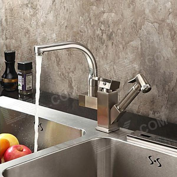 YDL-F-0522-Contemporary-Nickel-Centerset-Two-Spouts-Kitchen-Faucet-Antique-Silvery