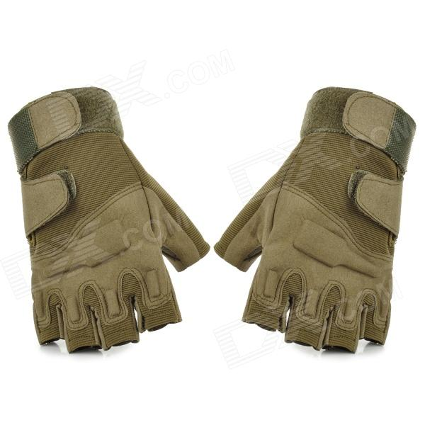 Buy SW3012 Outdoor Tactical Half-Finger Gloves - Army Green (Size L / Pair) with Litecoins with Free Shipping on Gipsybee.com