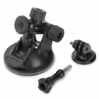 Universal Mini Car Mount Holder w/ Suction Cup for GoPro - Black