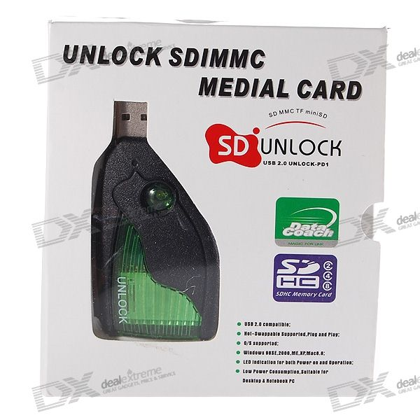Portable SD MMC Medium Memory Card Unlock Decoder