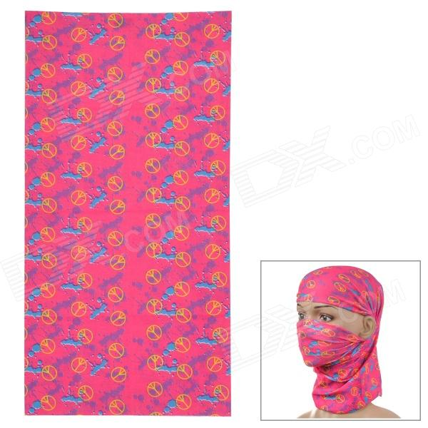 HL-088 Outdoor Multifunction Seamless Headscarf for Women - Deep Pink