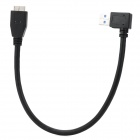 90 Degree Bend USB to Micro USB 9-pin Charging/Data Cable for Samsung Galaxy Note 3 - Black (30cm)