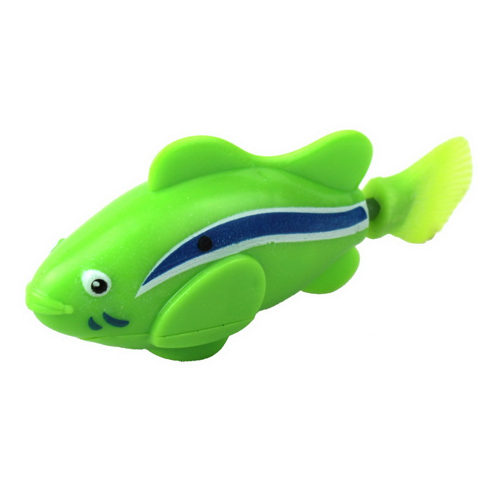 Flash ROBO Flash Electric Pet Fish Toy - Green + Blue + White