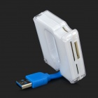 Multi-in-One USB 3.0 6-Slot SD / TF / MMC / RS-MMC Memory Card Reader - White